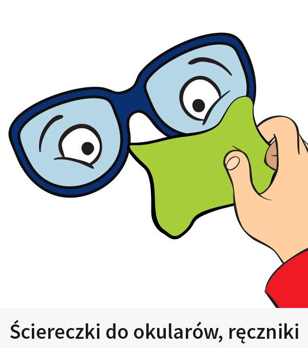 Ściereczki do okularów, ręczniki, ręczniki chłodzące