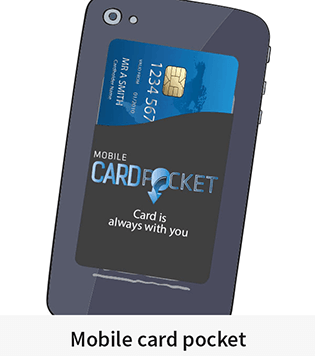 Mobile card pocket